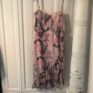 Pink Tropical Floral Cupshe Dress